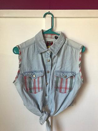 Vintage 90's denim sleeveless top