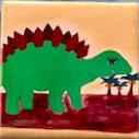 Dinosaur Tile Magnet