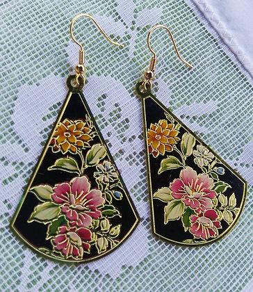 Oriental Flower Fan Earrings