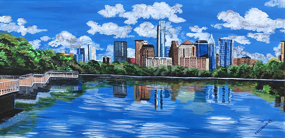 """Best city to live in"" - Austin Skyline"