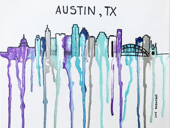 Austin Original Acrylic Pouring - Purple