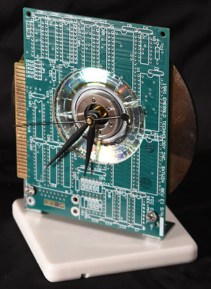 Green Computer Board Clock