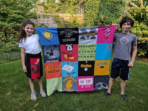 Custom Twin Size T-Shirt Blanket