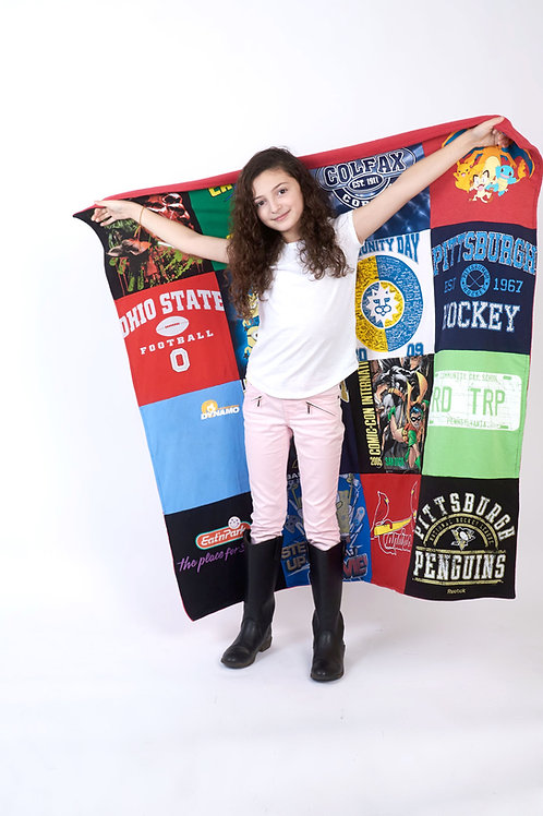 Custom Lap Size T-Shirt Blanket