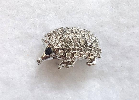 Diamante Hedgehog Brooch