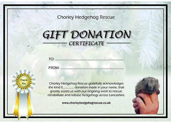 Christmas Bauble Gift Certificate