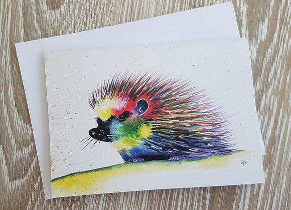 Hedgehog Card (Colours)