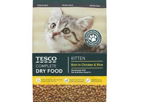 Tesco Kitten Dry Food Chicken 500g