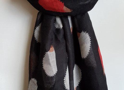 Hedgehog Scarf (dark colours)