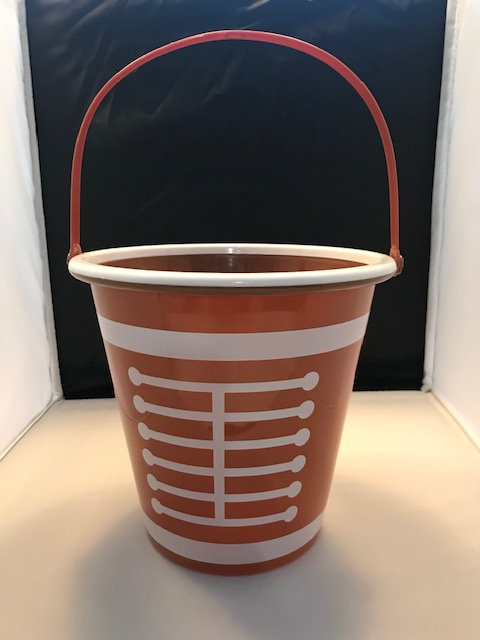 Brown Plastic Football Basket