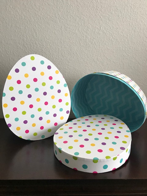 Large Cardboard Polka-Dot Egg