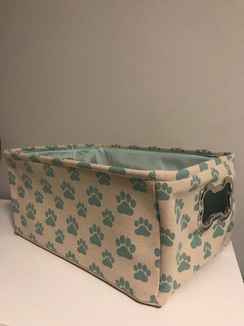 Teal and Beige Gift Basket