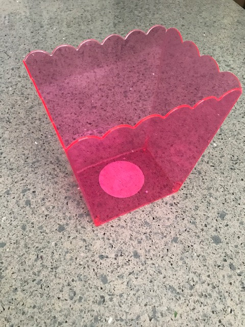 Pink Plastic Container
