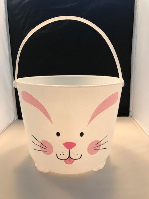 White Plastic Bunny Bucket