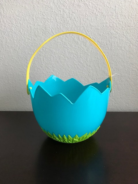 Blue Plastic Egg Basket