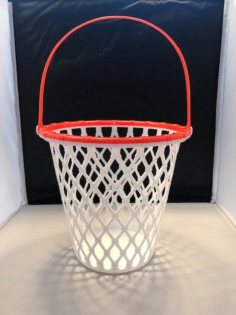Orange and White Plastic Basketball Bucket