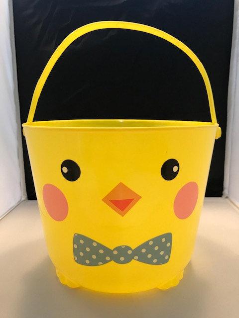 Yellow Plastic Chick Bucket