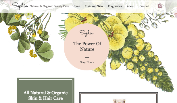 Wellness website templates – Cosmetic Oils