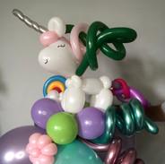 Unicorn balloon birthday gift