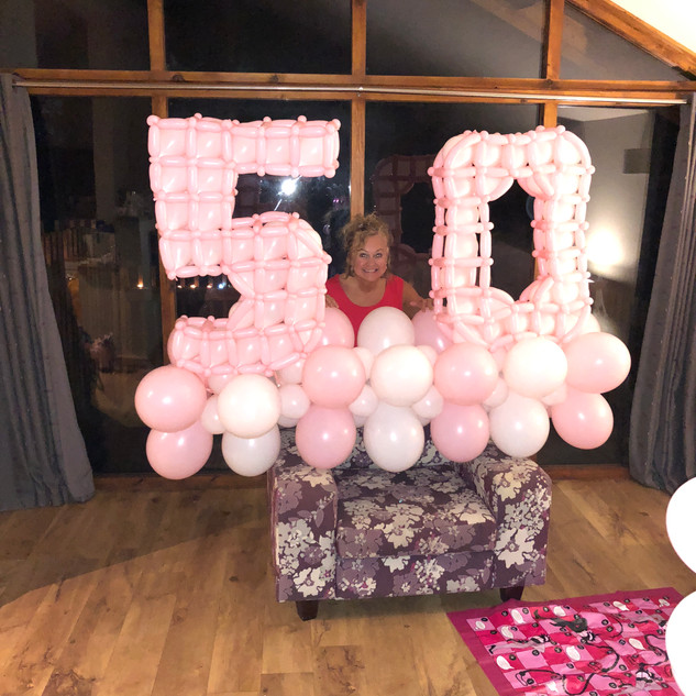 Birthday balloon numbers