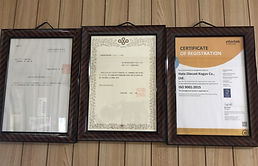 各種認定書の画像