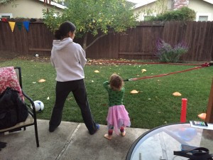 My Wife and Daughter Workingout