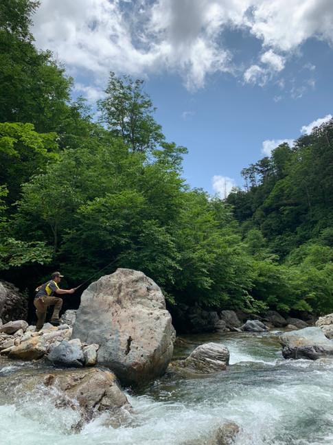 利根川源流域  大岩魚を求めて…