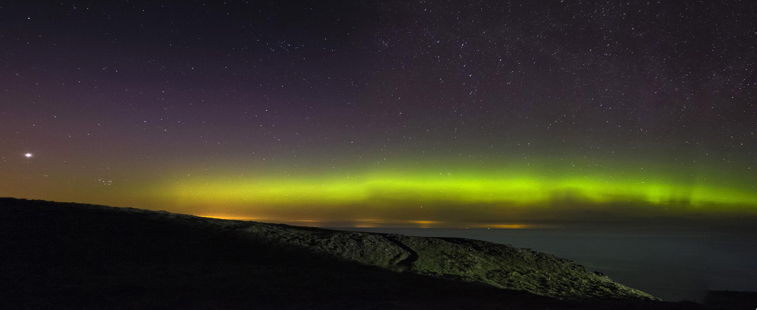 Aurora Borealis, St Abbs, Scotland