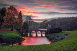 Stourhead sunset