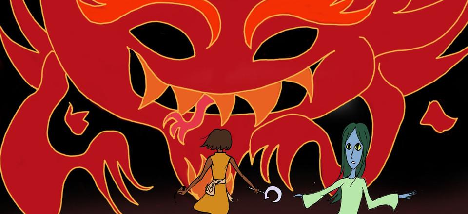 Kuma vs Fire Spirit
