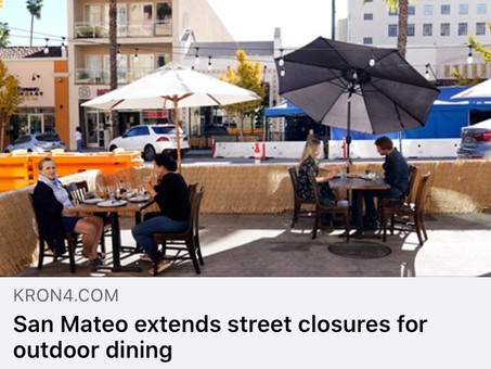 Outdoor dining continues with Citywide parklet program & downtown street closure