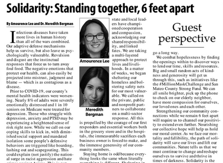 Solidarity: Standing together, 6 feet apart