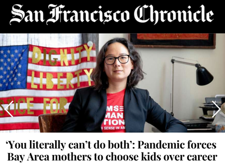 SF Chronicle Profile of Working Moms During the Pandemic