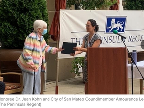San Mateo Residents Honored On Senior Citizen's Day
