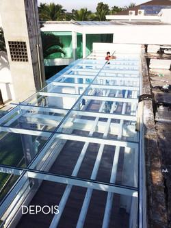 Telhado de Vidro Guarujá ( Depois )