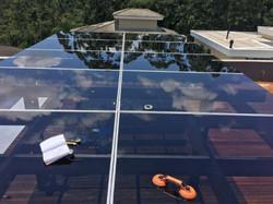 Cobertura de vidro - Vedação