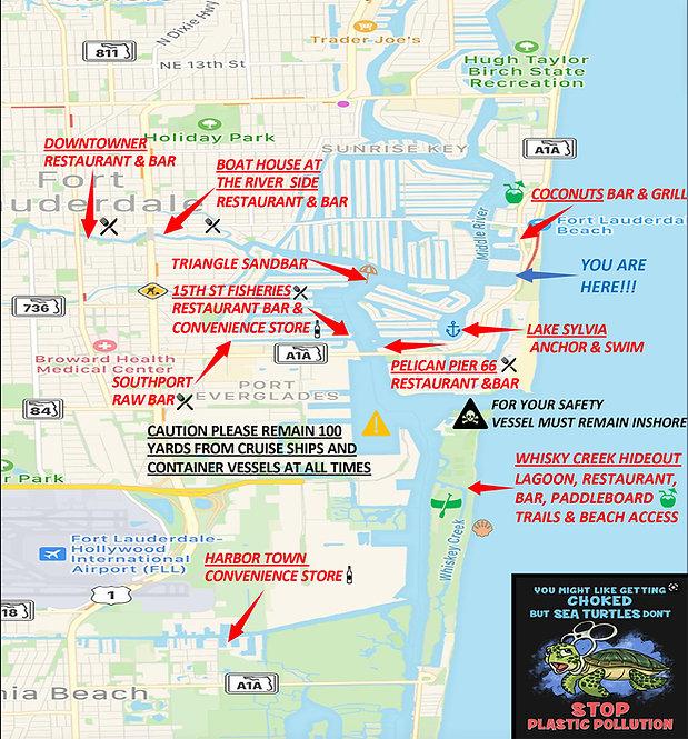 Lauderdale Adventures Boat Rentals map.j