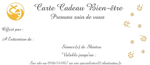Carte cadeau Saint Valentin massage duo.