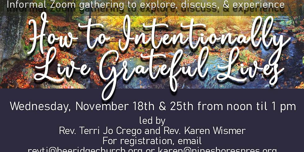 Gratitude Exploration Zoom Day 2