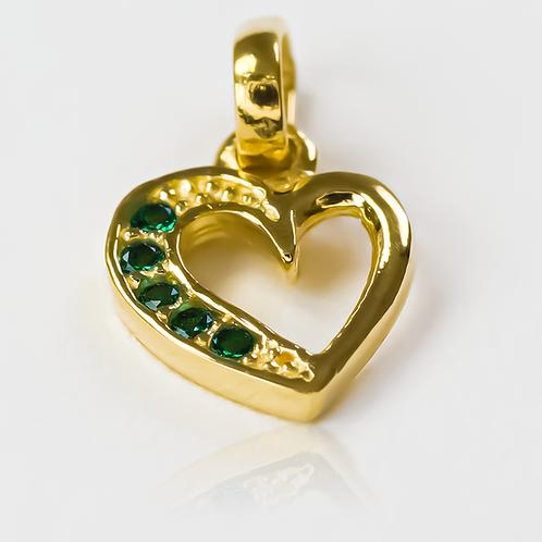 Green heart cristal half JT