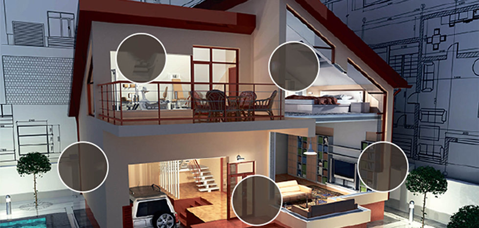 Control4 järjestelmä kattaa koko talon sähköisen elämän
