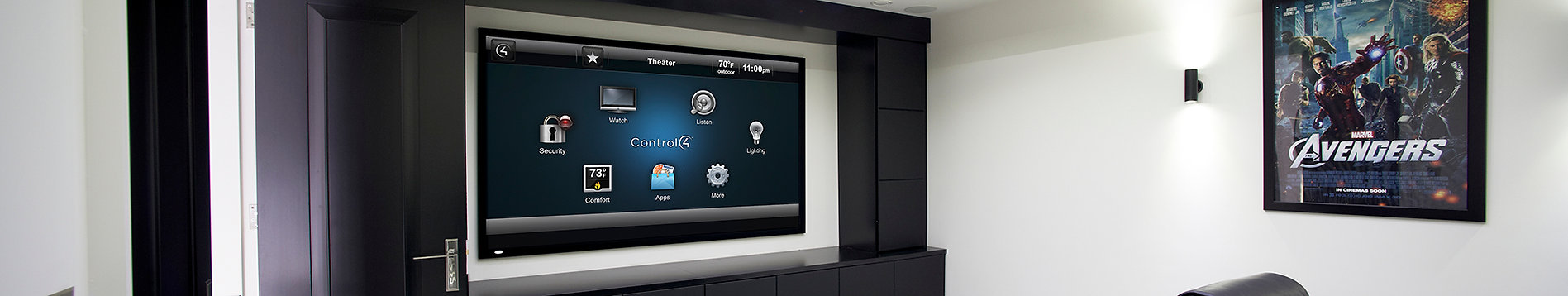 Control4 ohjattu kotiteatteri