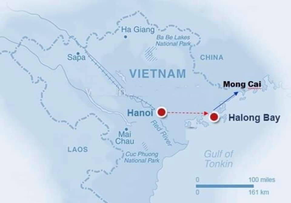 Hanoi-Halong Map