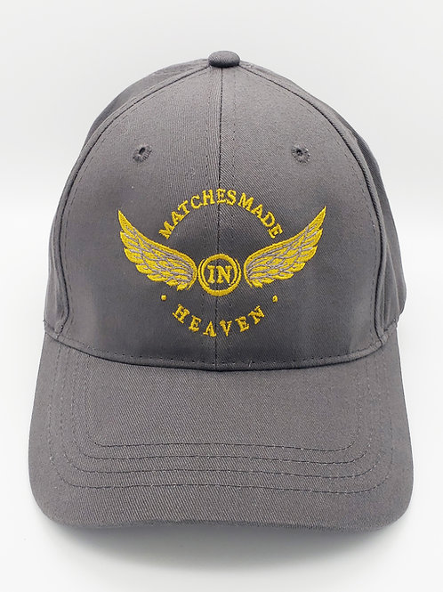 """""""Matches Made in Heaven"""" Embroidered Hat- Gun Metal Grey"""