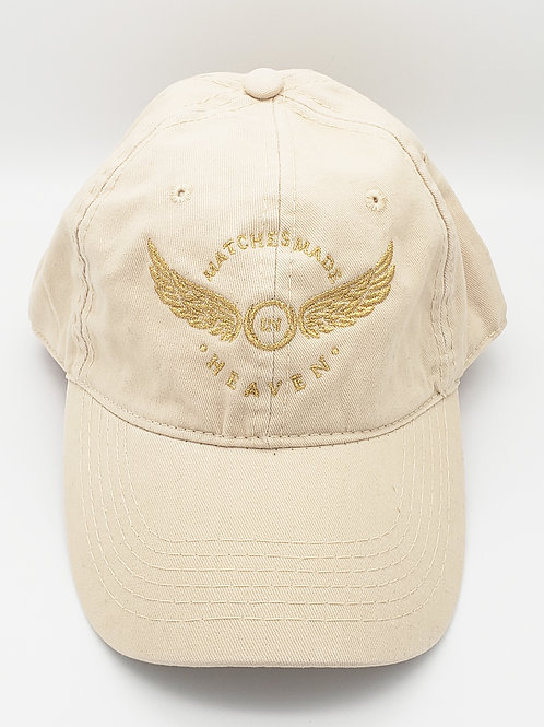 """""""Matches Made in Heaven"""" Embroidered Hat - Stone"""