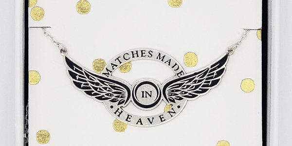 """""""Matches Made in Heaven"""" Necklace- Sterling Silver 18"""""""