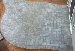 paver patio gray