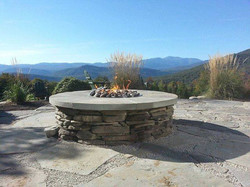 Stacked Stone Gas Firepit