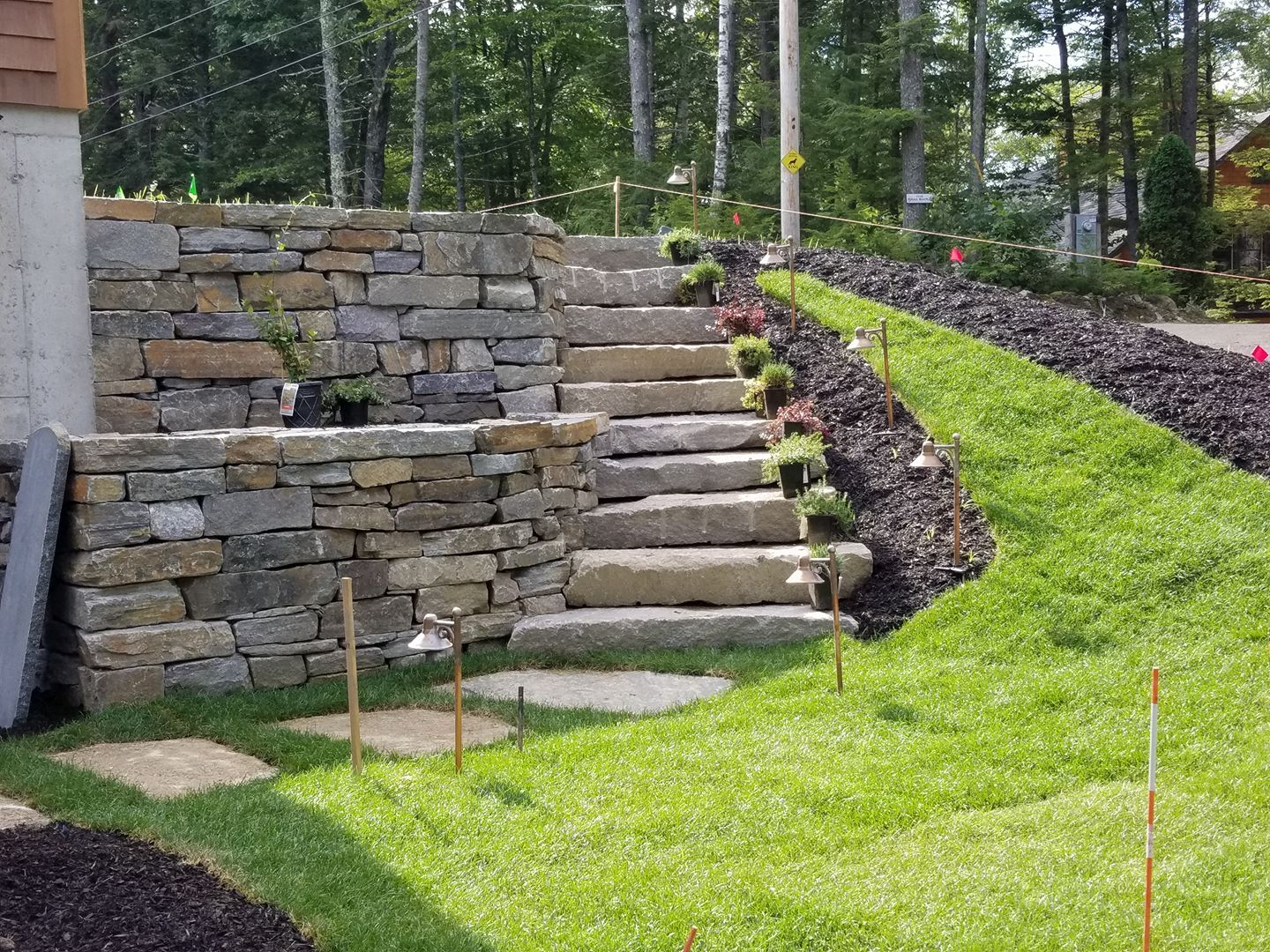 Granite Retaining Wall & Steps