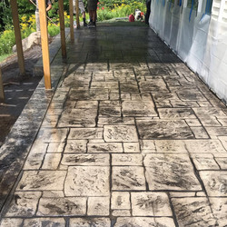Stamped and Colored Concrete